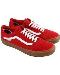 vans old skool red high