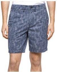 Calvin Klein - Mens Printed Twill Casual Walking Shorts Navyarmada 36 - Lyst