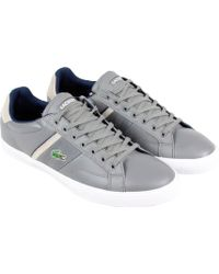 Lacoste - Fairlead Snm2 Grey Mens Lace Up Sneakers - Lyst