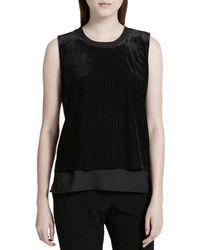 Calvin Klein - Velvet Layered Look Casual Top - Lyst