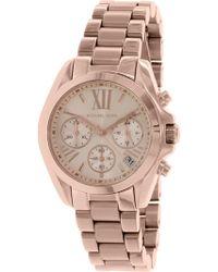 3e55a95a110f Lyst - Michael Kors Bradshaw Chronograph Ladies Watch Mk6358