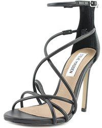 b7598711646 Steve Madden - Satire Women Open Toe Synthetic Black Sandals - Lyst