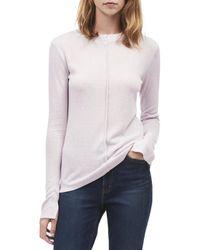 Calvin Klein - Knit Long Sleeves Mock Sweater - Lyst