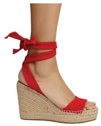 94a1732642e Lyst - Kenneth Cole Odile Lace-up Espadrilles in Red