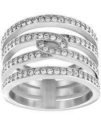 Swarovski   Creativity Rhodium-tone Crystal Ring   Lyst