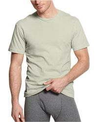 CALVIN KLEIN 205W39NYC - Solid Crew Neck Basic T-shirt Ecruheather 2xl - Lyst