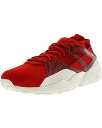7e0759d3 Lyst - PUMA Clyde Gcc High Risk Red / Black Ankle-high Leather ...