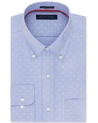 Tommy Hilfiger - Anchor Button Up Dress Shirt Blue 17 1/2 - Lyst