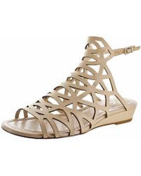 Vince Camuto - Illana Leather Strappy Slingback Caged Sandal Shoes - Lyst