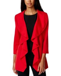 Calvin Klein - Red 2p Petite Open-front Cardigan Sweater - Lyst