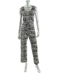 Calvin Klein - Mosaic Print Jersey Jumpsuit - Lyst