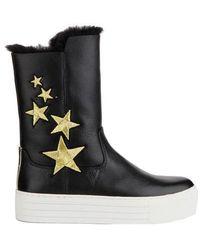 bdbd5beec300 Lyst - Asos Afiata Flatform Chelsea Boots in Natural