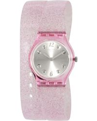 Swatch - Originals Lp132 Pink Plastic Swiss Quartz Fashion Watch - Lyst