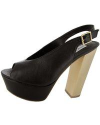 Steve Madden - Womens Skinny Platform Peep Toe Sandal - Lyst