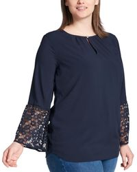 Tommy Hilfiger - Plus Jersey Lace Pullover Top - Lyst