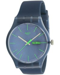 Swatch - 'blue Rebel' Watch Suon700 - Lyst