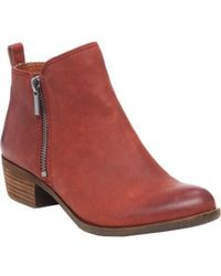 Lucky Brand - Basel Leather Ankle Boots - Lyst