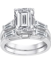 3ff274663c9ae9 Swarovski - Pure Perfection Certified Bridal Ring With Emerald-cut Stone  Made With Zirconia -