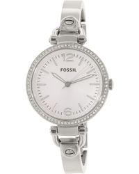 Fossil   Georgia Es3225 Silver Stainless-steel Quartz Fashion Watch   Lyst