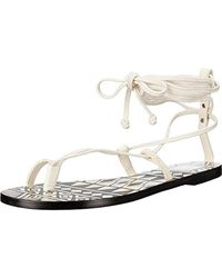 b40837ca902faa Dolce Vita - Chandler Leather Printed Flat Sandals - Lyst