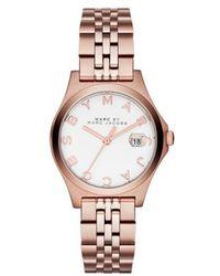 Marc By Marc Jacobs - The Slim Mbm3411 Rose Gold Analog Quartz Watch - Lyst