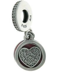Pandora | Heart Dangle Charm | Lyst