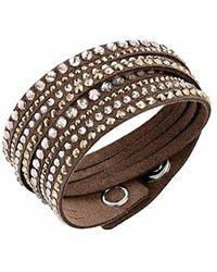 Swarovski - 5141349 Slake Brown Deluxe Bracelet - Lyst