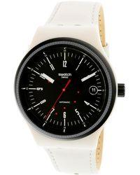Swatch | Sistem51 Sutm400 Beige Rubber Swiss Automatic Fashion Watch | Lyst