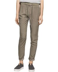 CALVIN KLEIN 205W39NYC - Solid Drawstring Casual Jogger Pants Ivymist S/24 - Lyst