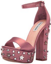 3063d2df3a5b Steve Madden - Women s Glory Two-piece Platform Sandals - Lyst