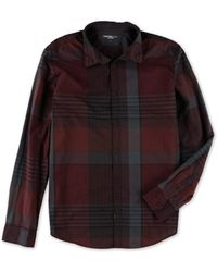 CALVIN KLEIN 205W39NYC - Exploded Autum Button Up Shirt Bordeaux 2xl - Lyst