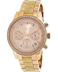 9d65bac971b3 Michael Kors - Ritz Mk6493 Rose-gold Stainless-steel Analog Quartz Fashion  Watch -