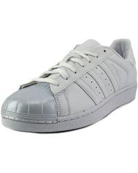 lyst adidas originals farm superstar in weiß