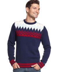 Tommy Hilfiger - Shoreland Fair Isle Holiday Sweater Xl Multi Color Crewneck $129 - Lyst