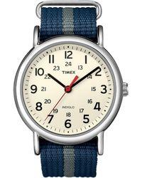 Timex - Unisex Weekender Slip-through Watch - Lyst