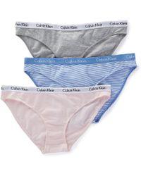 Calvin Klein - Qd3588 Carousel Bikini Panty - 3 Pack - Lyst