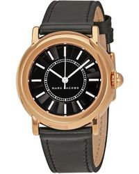 Marc By Marc Jacobs   Courtney Black Dial Black Laether Ladies Watch Mj1509   Lyst