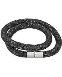 Swarovski - Stardust Black Double Bracelet 5102553 - Lyst