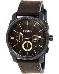 Fossil - Fs4656 Machine Leather Watch - Lyst
