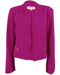Calvin Klein - Petite Long Sleeve Open Front Blazer (4p - Lyst