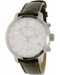 d3d7e3d2b34 Tissot Prc 200 Chronograph - T0554171601701 (mother-of-pearl/brown) Watches  in Metallic for Men - Lyst