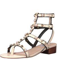d1e8506f85e1 Lyst - Steve Madden Crowne Flat Gladiator Sandals in White