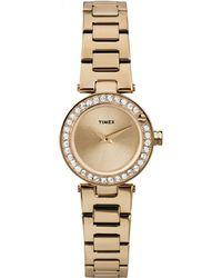 Timex - 'starlight' Crystal Bezel Bracelet Watch - Lyst
