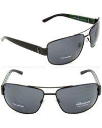 Polo Ralph Lauren - Ph3087 Ph/3087 9267/81 Black Pilot Polarized Sunglasses 64mm - Lyst