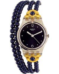 Swatch - Originals Lk352 Blue Plastic Swiss Quartz Fashion Watch - Lyst