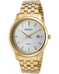 Seiko - Watches Mens Neo Classic Two-tone Stainless Steel Watch - Lyst