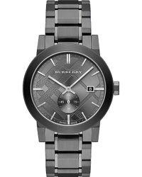 Burberry - City Bu9902 Grey Stainless-steel Swiss Quartz Watch With Grey Dial - Lyst
