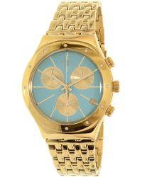 Swatch | Irony Ycg413g Gold Stainless-steel Swiss Quartz Fashion Watch | Lyst