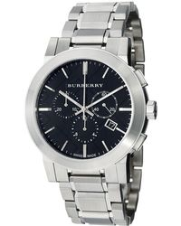 Burberry - Bu9351 Large Check Stainless Steel Bracelet Watch - Lyst
