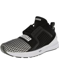 b91cfd19b6ee Lyst - Puma Ignite Limitless Black   Gold Ankle-high Basketball Shoe ...